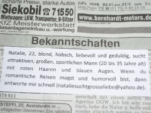 Süddeutsche zeitung heirats-u. bekanntschaft